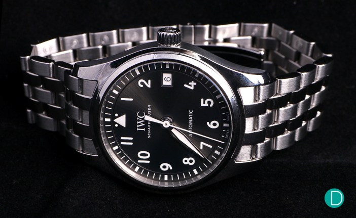 The IWC Pilot's Watch Automatic 36, fitted with a steel bracelet