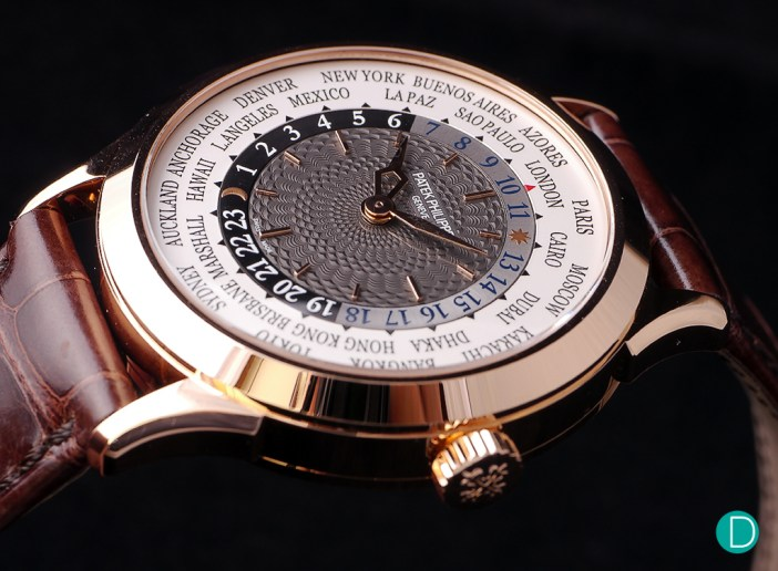 In red gold, the Patek Ref. 5230 is decidedly less understated than its white gold alternate. The rose gold case creates a somewhat more romantic feel to the watch.