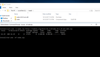 How to Download a Single File directly To a Windows Container