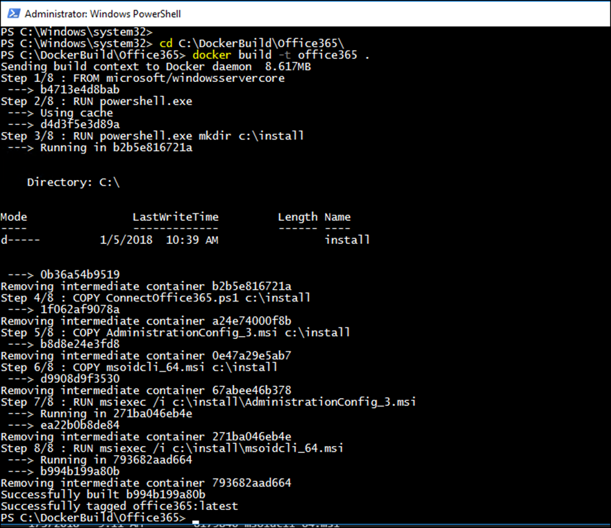 Manage Office 365 Using PowerShell From A Docker Container