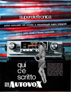 Advertisement Car Radio Autovox RA2011-RA2001