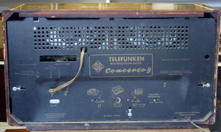 Telefunken Concerto 9 - pannello posteriore
