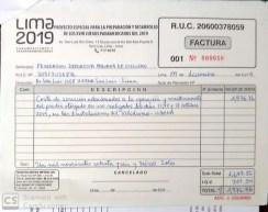 Factura a Federación Nacional Deportiva Peruana de Ciclismo