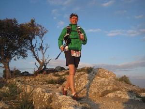 Rafa recorriendo la Sierra de Tramuntana en la Trail 2011