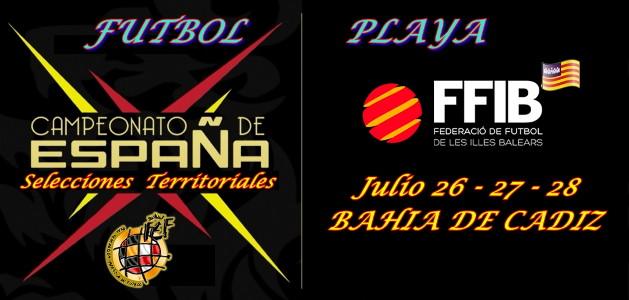 Campeonato de España Selecciones Territoriales futbol playa