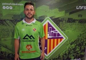 Marlon, en el vestuario del Palma Futsal (1)