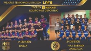 Trofeo BeSoccer los 'Equipos más deportivos'