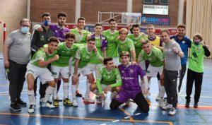 El ETB Calvià Hidrobal Palma Futsal celebró la clasificación para las semifinales por el ascenso