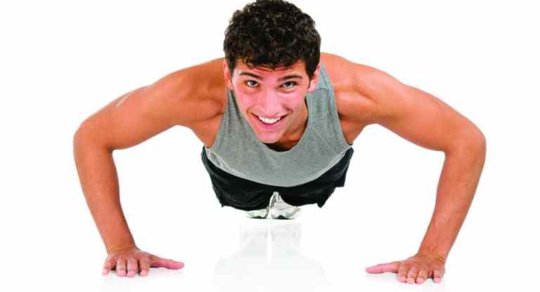 Flexiones de brazos en suelo