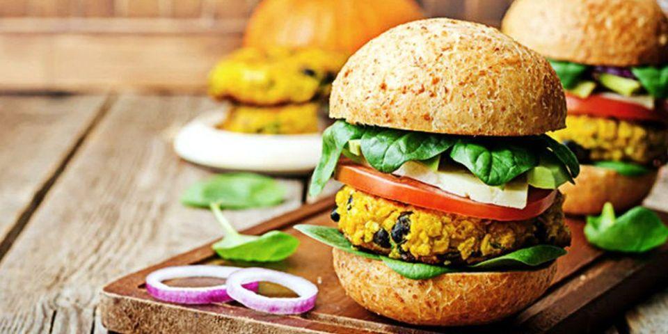 Las mejores recetas de hamburguesas vegetarianas: calabaza