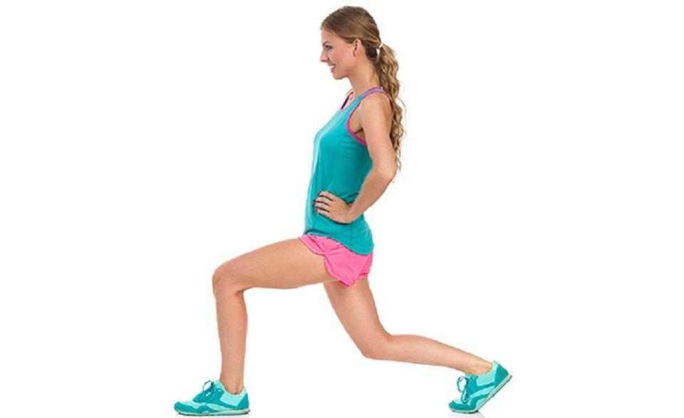 Las zancadas fortalecen las piernas