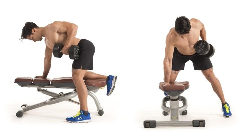 Remo con mancuerna, otro de los mejores ejercicios para dorsales