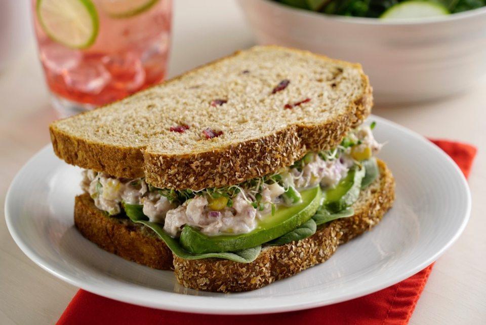 recetas sándwiches saludables atún cremoso