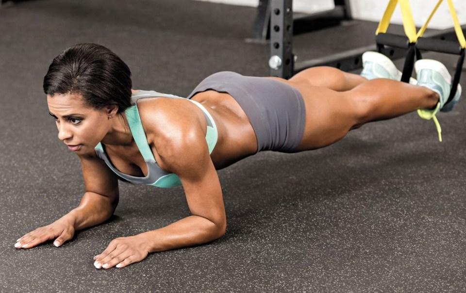 rutina con TRX para abdomen ejercicios