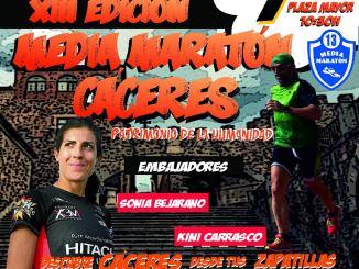 Sonia Bejarano y Kini Carrasco, padrinos de la nueva Media Maratón de Cáceres