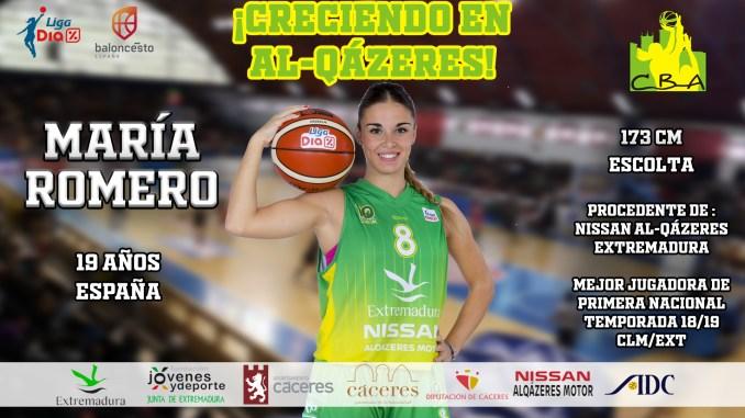 María Romero cumplirá su quinta temporada en el Nissan Al-Qázeres Extremadura