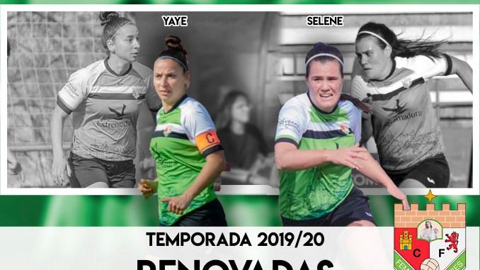 Yaye y Selene seguirán al timón del Femenino Cáceres
