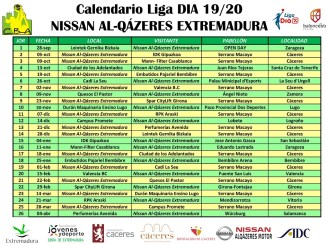 Calendario Liga DIA - Nissan Al-Qázeres Extremadura