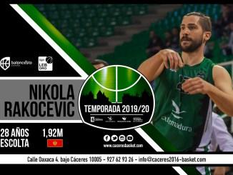 Nikola Rakocevic defenderá, por quinta temporada, la camiseta del Cáceres