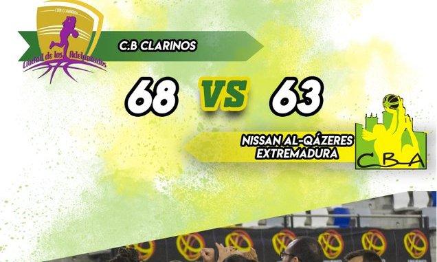 Derrota del Nissan Al-Qázeres Extremadura ante el CB Clarinos por 68 - 63