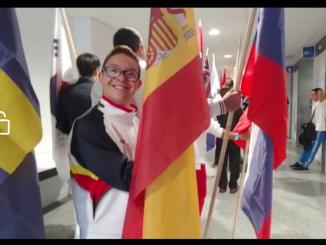 Ceremonia clausura: Guillermo abanderado del equipo español