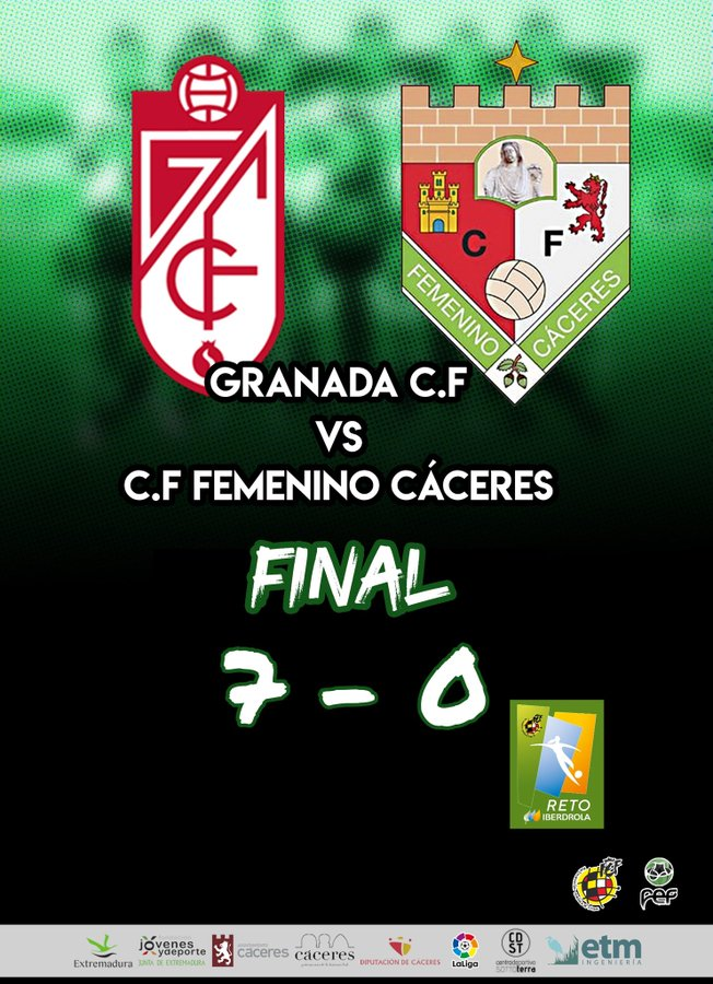 Derrota contundente del Femenino Cáceres en Granada en la décimo sexta jornada