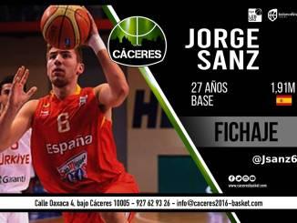 Jorge Sanz será jugador del Cáceres Ciudad del Baloncesto esta temporada