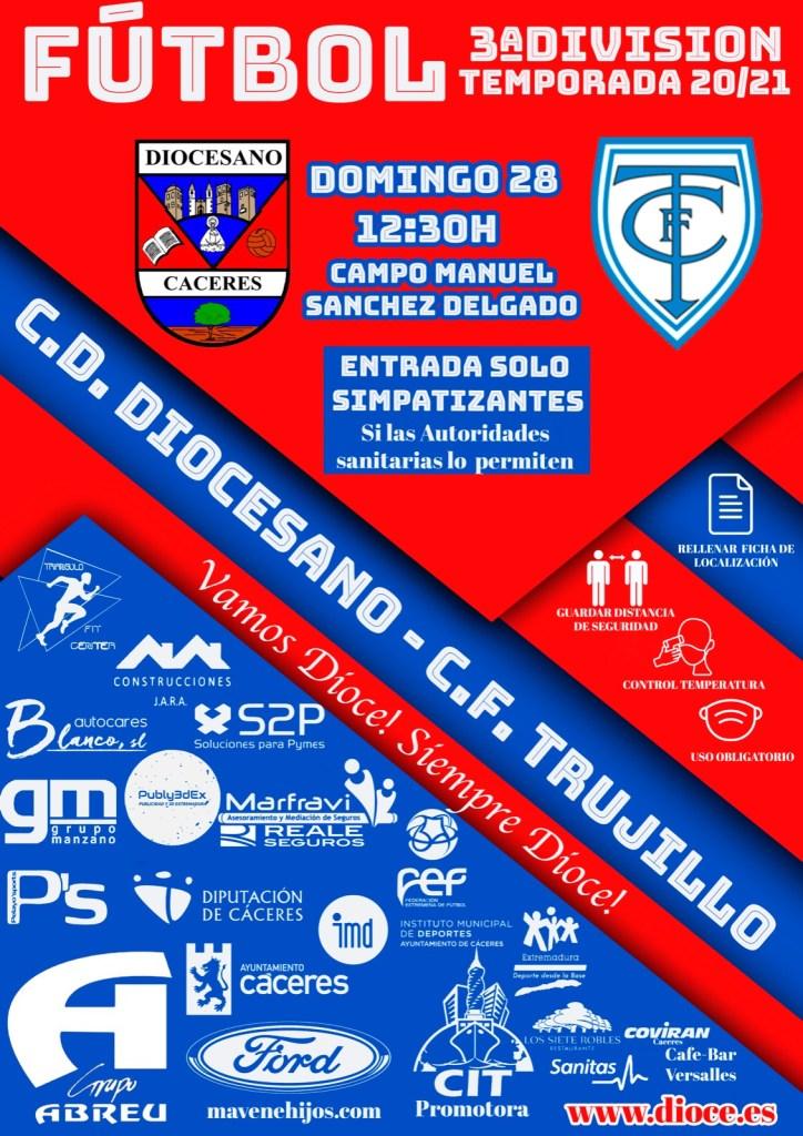 Previa del partido de la jornada 19 CD Diocesano – Trujillo