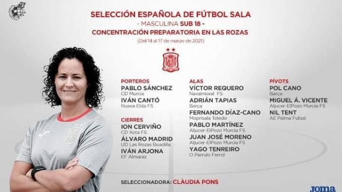 El Jaraiceño Iván Arjona convocado por la Selección Sub-18 Masculina de Fútbol Sala