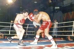 Un grande. Brítez derrotó por puntos y ganó el título argentino ante el excampeón mundial Julio César Vázquez, el 24 de enero de 2003 (Foto Primera Edición)