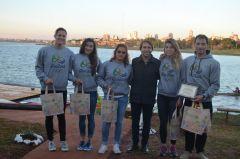 Morgenstern con el equipo olímpico