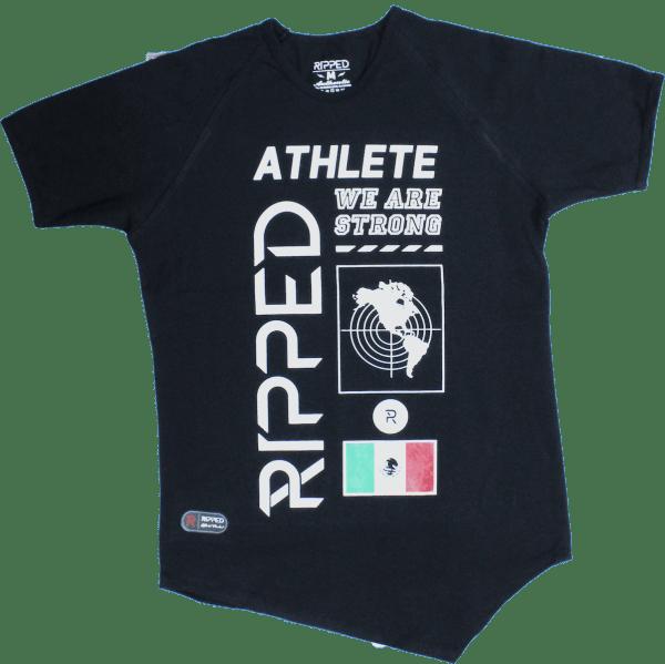 athlete negra manga corta pico