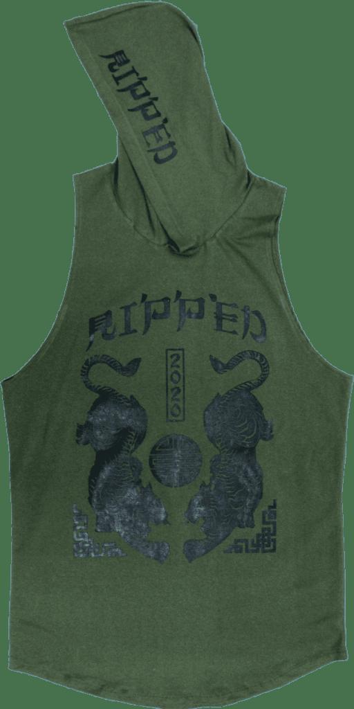 tigre verde resaque gorro
