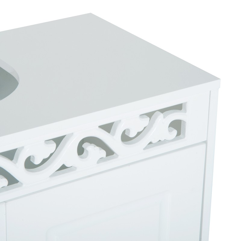 Armario de Bao Bajo para Lavabo con 2 Puertas y Es