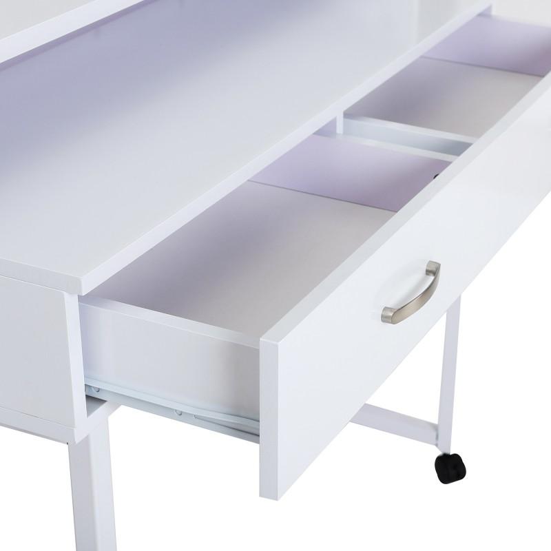 Mesas Ordenador Madera Blanco 100x36x88cm
