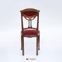 Jugendstil art deco stijl stoel met houtsnijwerk | Depot 19