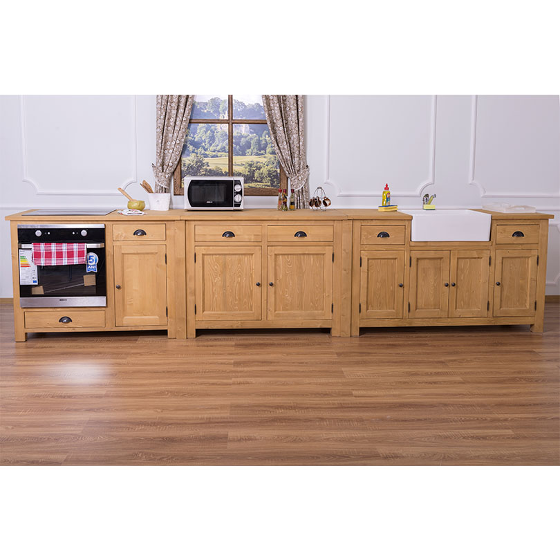 meuble cuisine pour four encastrable et plaques de cuissons romane 120x65x90 cm