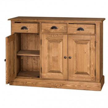 bahut en bois massif 3 portes et 3 tiroirs