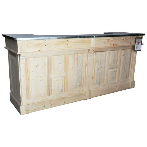 comptoir de bar d angle en bois massif