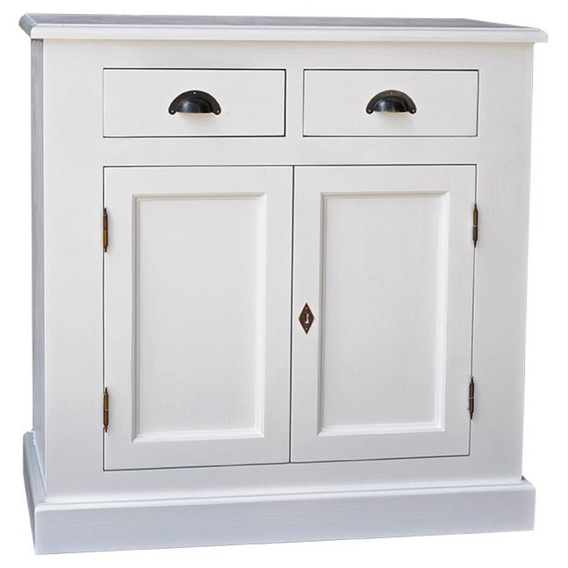 petit vaisselier en pin massif placard et 2 tiroirs
