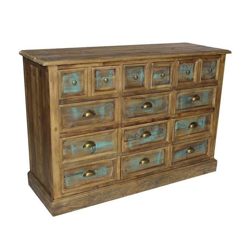 meuble multitiroirs vintage industriel vieux bois