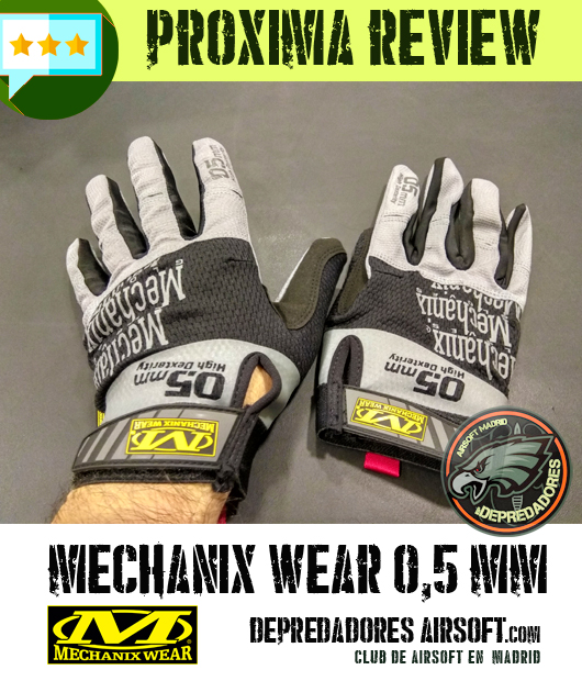 review guantes mechanix airsoft
