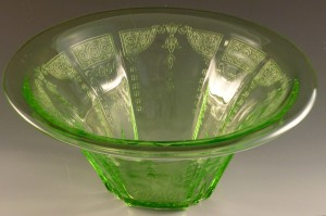 A Wearin Of The Green Princess Green Depression Glass