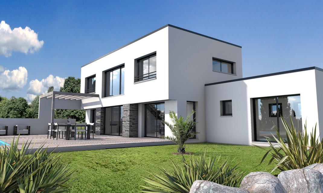 Maison moderne vide sur sjour St Gilles Croix de Vie  Depreux Construction