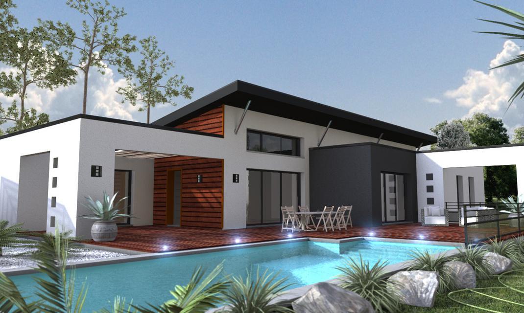 Constructeur Maison moderne 44 56 85  Depreux Construction