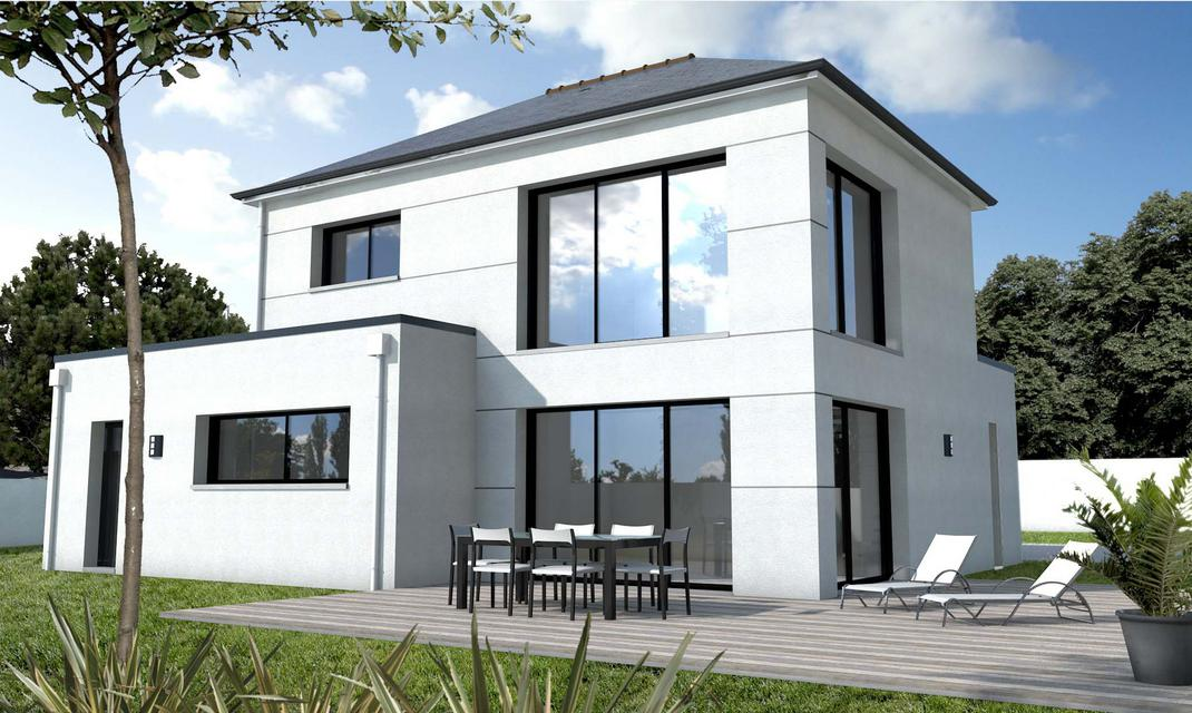 Maison contemporaine surmesure 44 56 85  Depreux