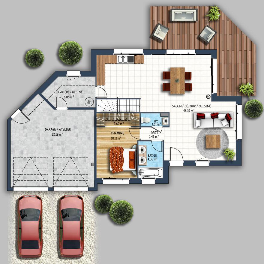 maison design contemporain double