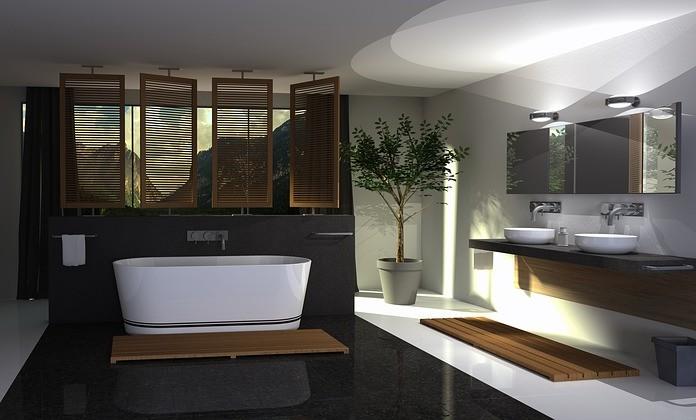 douche dans une maison neuve