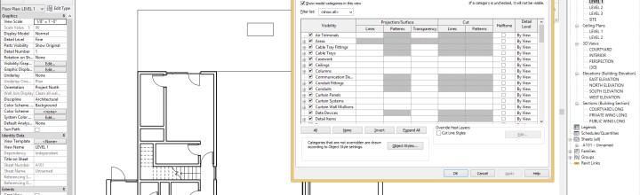 Revit Visibility Graphic Overrides