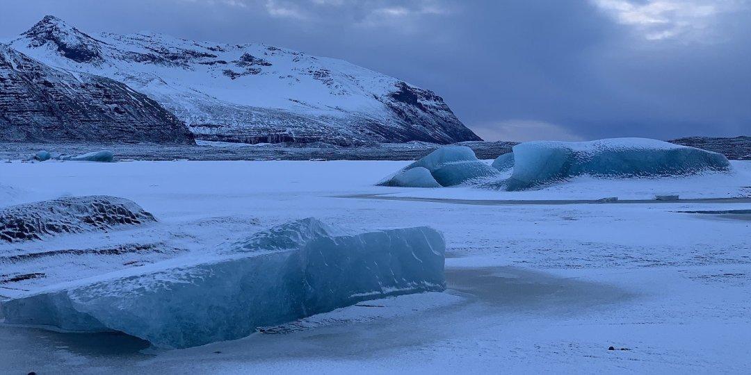 Bloques de hielo frente al Skaftafellsjökull